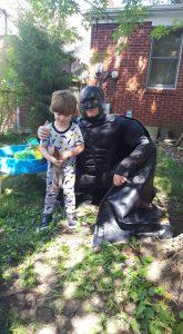Small boy with Batman